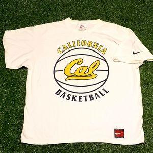 Vintage 90's Nike Cal Basketball Team Sports Tee